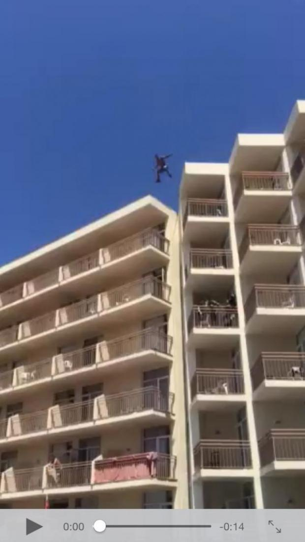 The Oxford Times: Watch: Didcot man videoed jumping off six-storey hotel into pool