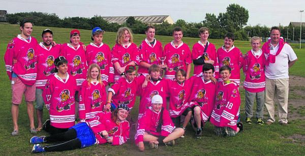 Oxford Junior Stars Under 14 team in their specially-made jerseys, whi