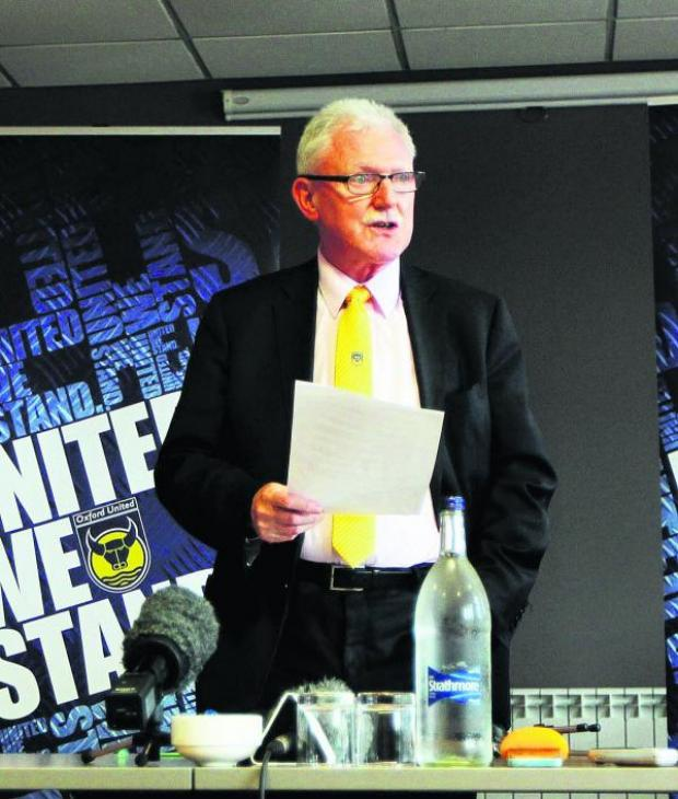 The Oxford Times: Ian Lenagan at yesterday's press conference