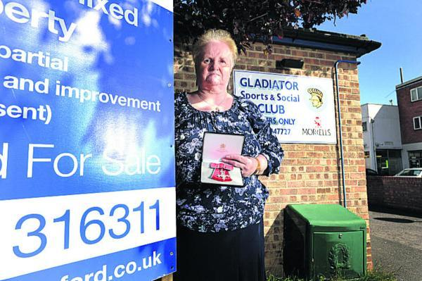 The Oxford Times: Jane Casey outside the Gladiator Club