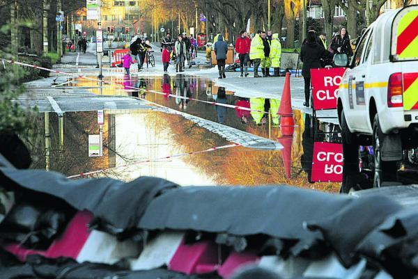 Botley Road flooding in January