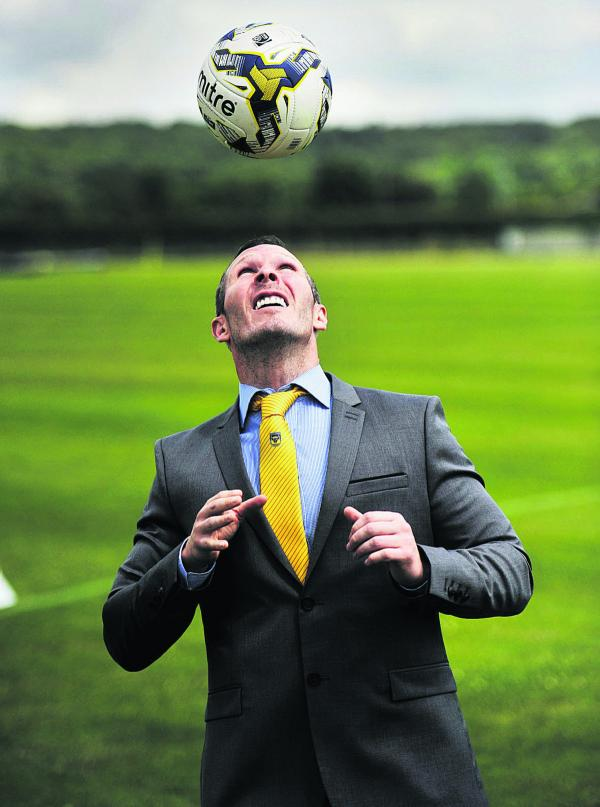 Michael Appleton began work at Oxford United today