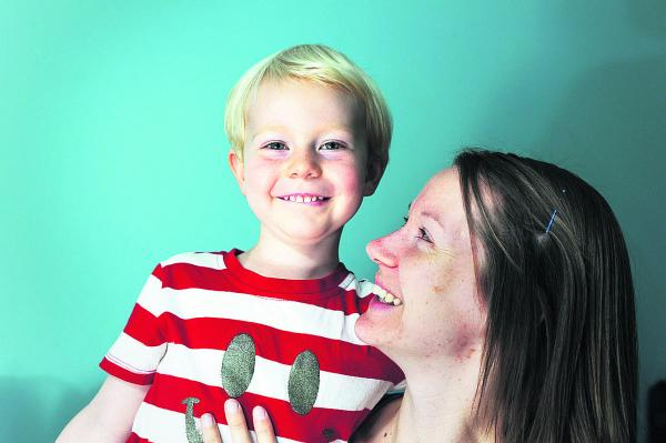 Gillian Denton, pictured with son Noah, three, took part in the study. Picture: OX68433 Jon Lewis