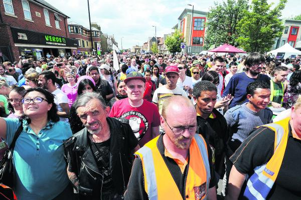Crowds pack into this year's Cowley Road Carnival. Picture: OX68413 Jon Lewis