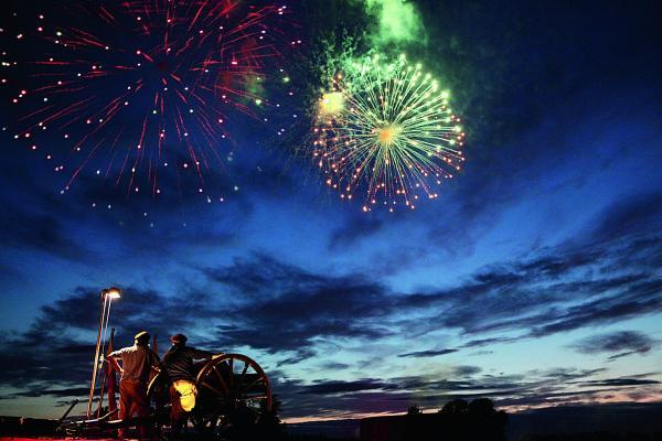 A spectacular fireworks display from a past Battle Proms concerts