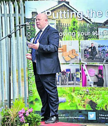 Ian Hudspeth at the opening of the car park extension last July