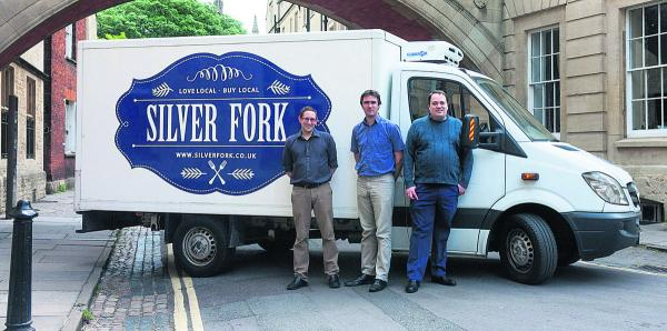 Silverfork's James Lawton, Al McNicholl and Mark Knowles who will deliver food from independent Oxford shops