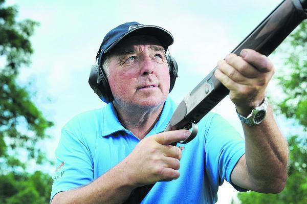 Clay pigeon shooting champion John Bidwell                   Picture: OX68635 Jo