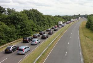 Traffic queuing westbound on the A420 today, courtesy of reader Brian Adams