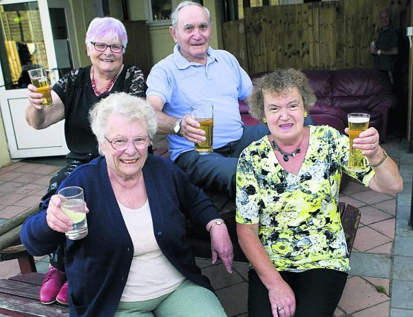 Back, from left, Barbara Naylor and Den Middleton with, front from left, Pam Wheeler and Valerie Wells at a lunch club.  Picture: OX68566 Antony Moore