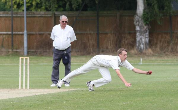 Chris Leaney, seen here fielding during his 7-46 for Aston Rowant 2nd against Oxford & Bletchingdon Nondescripts, returns for the first-team trip to Slough