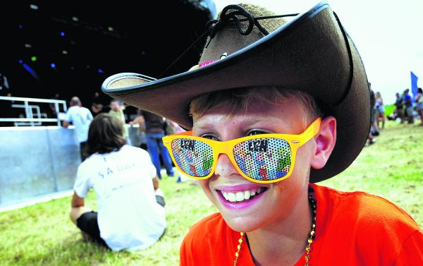 Oliver Clark, 13, at the festival