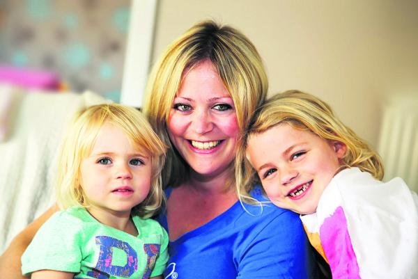 Business Mum of the Year nominee Penny Gilbert, of Didcot, with daughters, Vesper, two, left, and Lilia, six