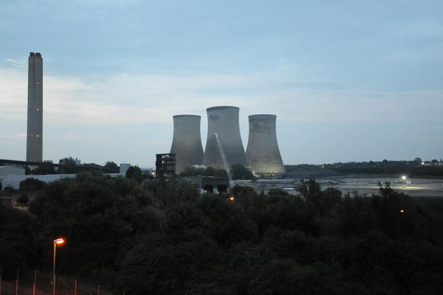 The cooling towers at Didcot A Power Station