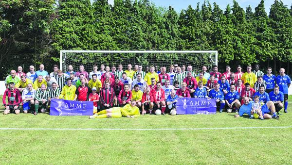 The footballers taking part in the Charlie Allum Memorial Day at the