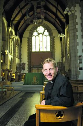 The Rev Gavin Knight at St Michael and All Angels' Church