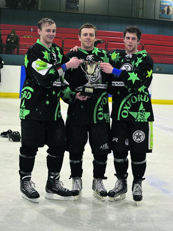 The Oliver brothers (from left: Josh, Nick, Joe) will be staying at Oxford City Stars this season