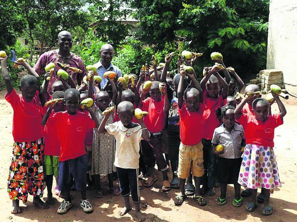 HELP AT HAND: Children from Quentin's Junior Academy