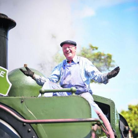 David Marsh with GWR pannier tank locomotive No 1369