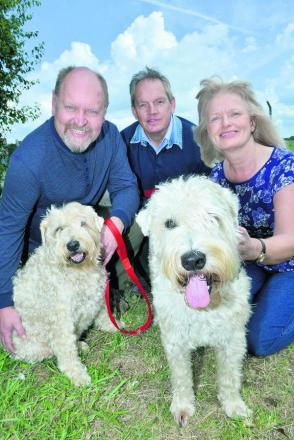 From left, Norman Holifield, with Tarka; Bicester councillor Les Sib