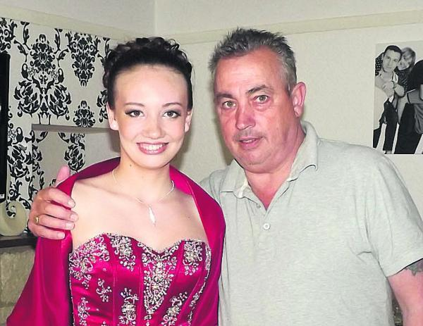 Amy Preece and her late father Andrew