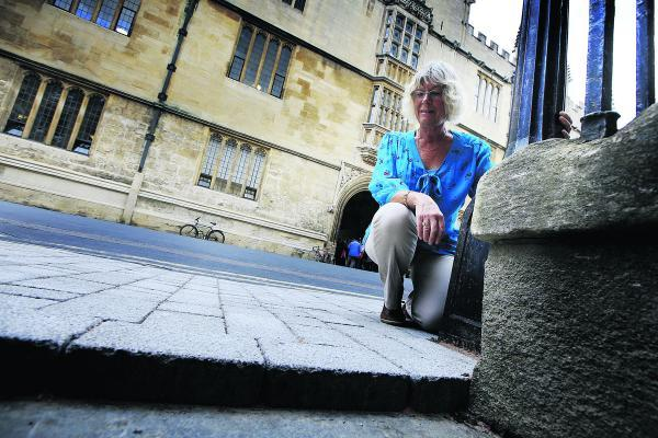 Councillor Susanna Pressel outside Hertford College                                          Picture: OX69405 Ed Nix