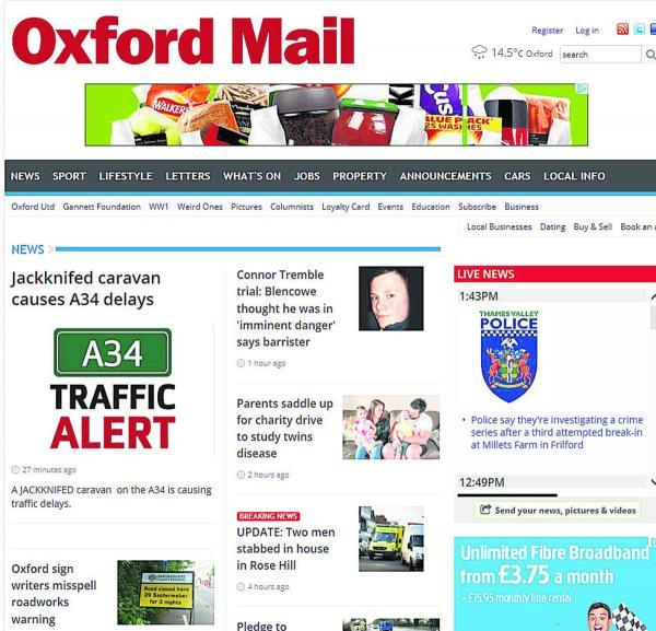 The new-look Oxford Mail website
