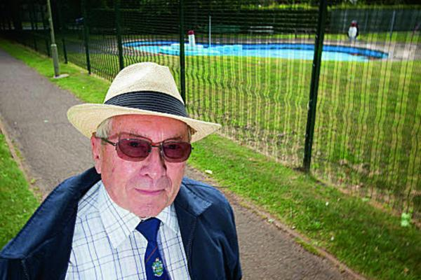 Witney Cllr Harry Eaglestone at The Leys
