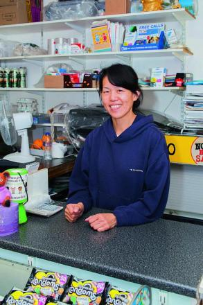 Yang Beh, shop assistant at Bridge Stores, Donnington Bridge Road    Pictures: OX69534 Greg Blatchford