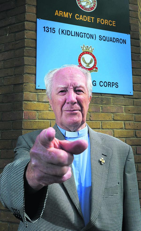 Kidlington Air Cadets chaplain the Rev Jim Turner is appealing for more to join