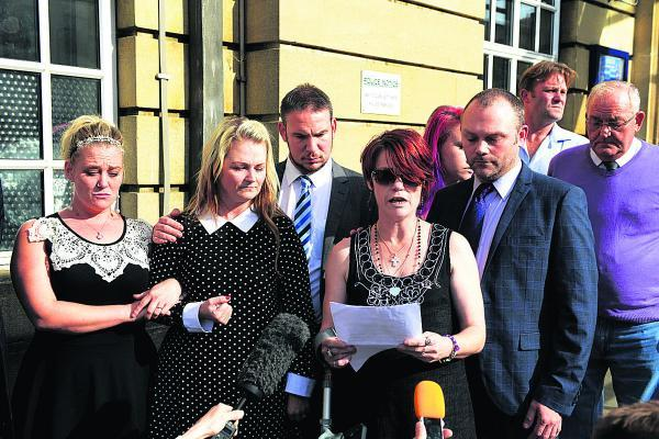 Connor's mother Lisa Tremble reads out her statement outside Oxford Crown Court