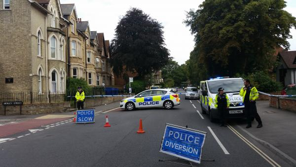Iffley Road in Oxford is closed due to a police incide