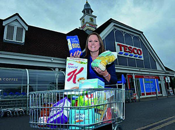 Elaine Griffiths community champion from Tesco in Didcot, which ran the appeal