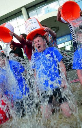 Lead Professor at JR's MND Centre, Kevin Talbot, takes part in the Ice Bucket Challenge