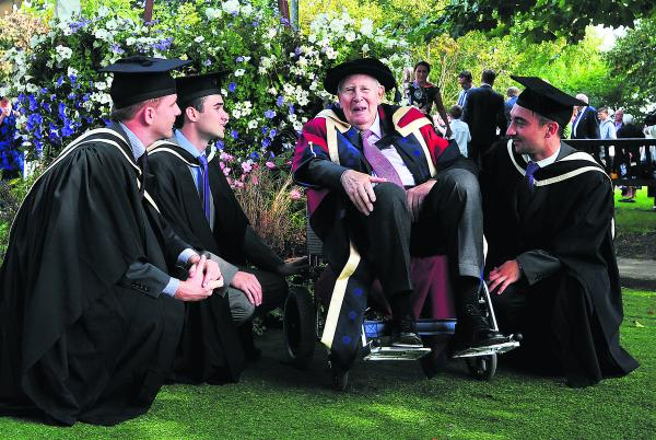 Sir Roger moves fellow graduates to tears (From The Oxford Times)