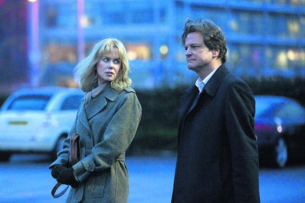 Predicament: Nicole Kidman as Christine Lucas with Colin Firth, who plays her husband Ben