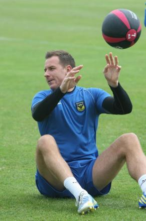 Ryan Clarke has returned to full training with Oxford United after recovering from a foot operation in the summer