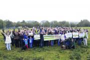 Save Port Meadow campaigners gathered to mark their second anniversary on Sunday