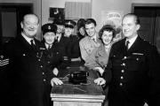 Saturday favourites: The cast of BBC Television's Dixon of Dock Green pictured in November 1959 at the start of the sixth series. They are, from left, Arthur Rigby (Sgt Flint), Moira Mannion (Sgt Grace Millard), Geoffrey Adams (PC Lauderdale), David Web