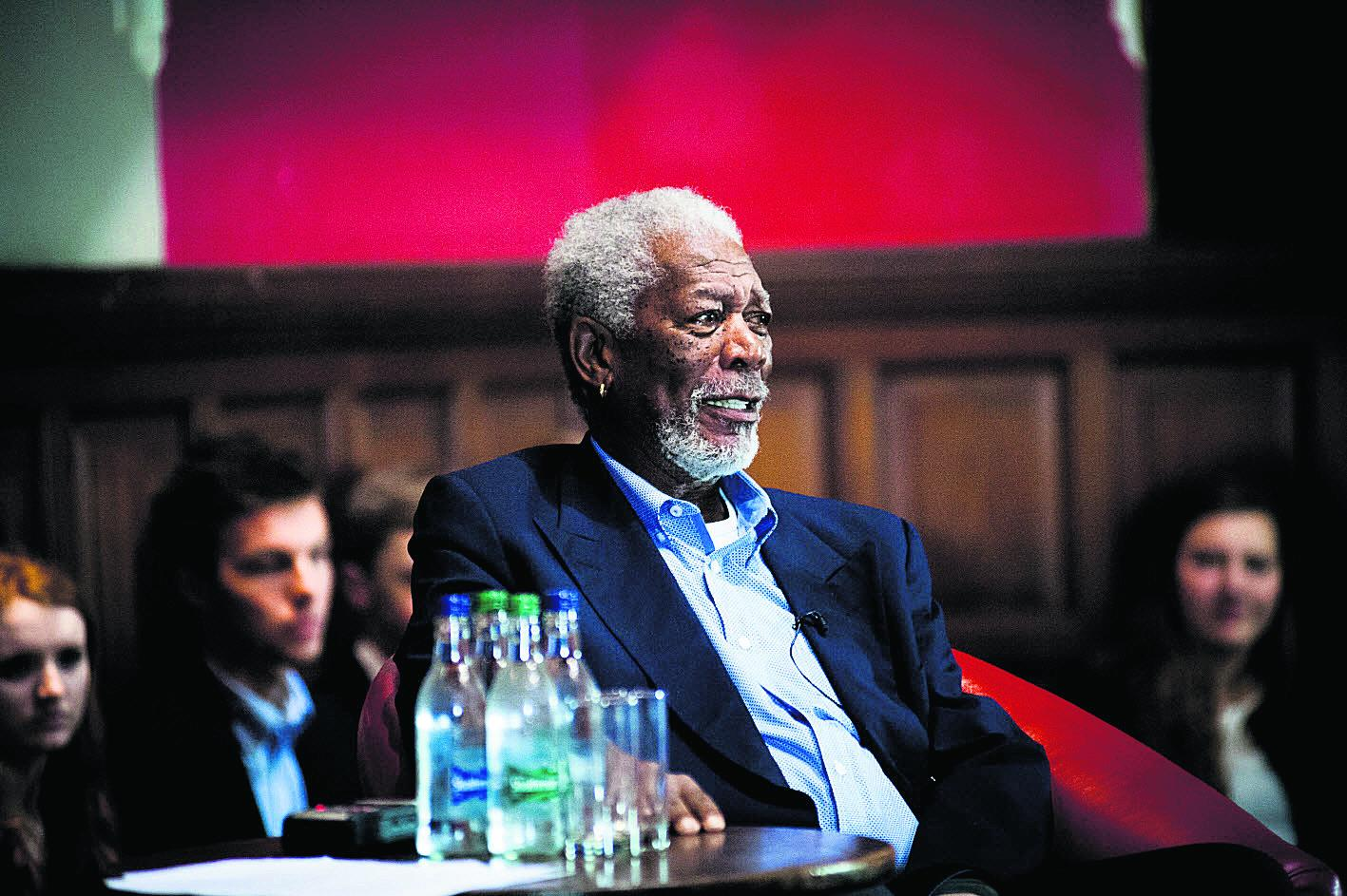 Morgan Freeman at the Oxford Union