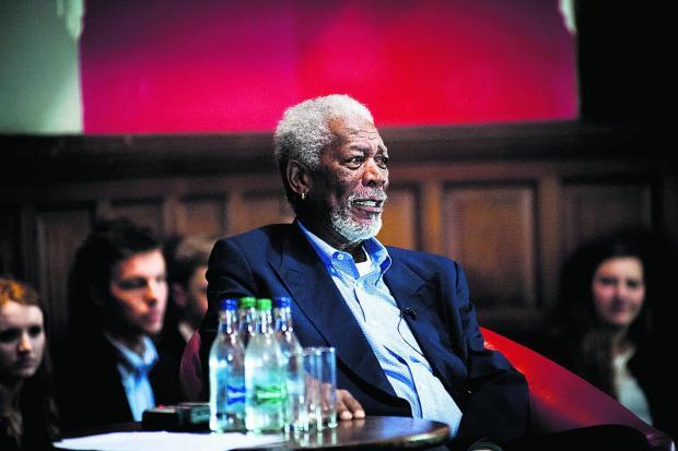 Morgan Freeman at the Oxford Union