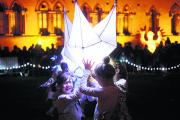 Laila Branfort, 10, from Beckley and fellow dancers from Oxford Youth Dance perform outside the Natural History Museum in Oxford as part of the Starburst and Snowflakes event