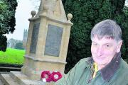 Peter Warburton at the Churchill war memorial                       Picture: OX71244 Simon Williams