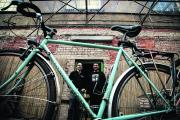 Sam Chappell, left, and Kiro Hadjiev from the Broken Spoke bike co-op have welcomed the news. Picture: OX71436 Julian Rus