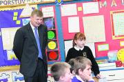 Lord Nash during the visit to Gateway Primary School