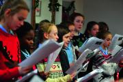 Headington School pupils on song