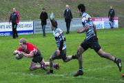 Rhys Andrews goes over to score for Banbury Under 18s A in their 33-14 victory at Newbury