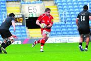 Nathan Morris is hoping to get off the bench for London Welsh and face Saracens this afternoon