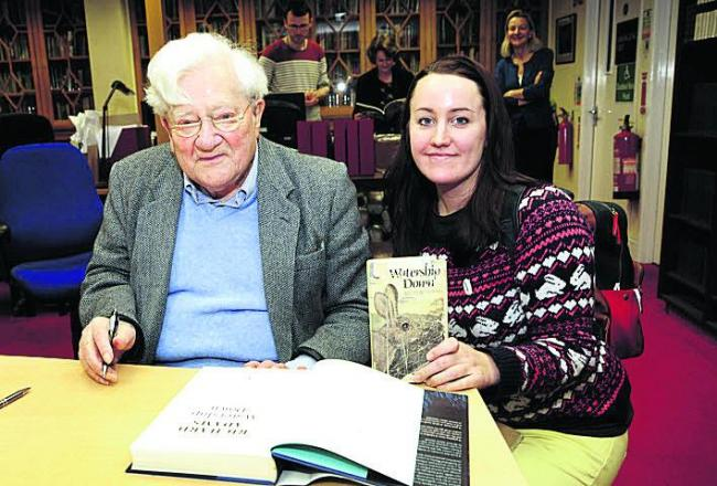 Author Richard Adams with fan Gemma Golland  Picture: OX71801 David Fleming
