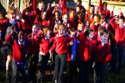 Children from St Blaise CE Primary School jump for joy after receiving their Ofsted report